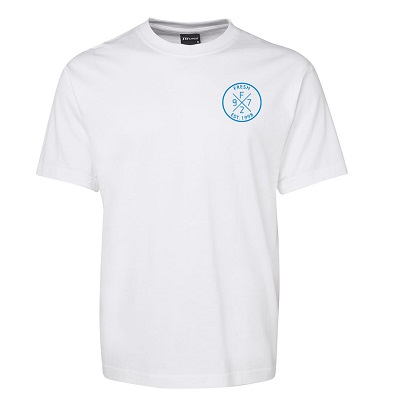 SS White Tee_Blue