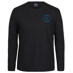 Black LS Tee_Blue