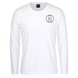 White LS Tee_Black