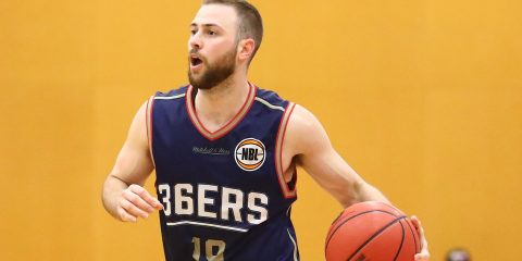 TRARALGON, AUSTRALIA - SEPTEMBER 08:  Adam Doyle of the Adelaide 36ers controls the ball during the 2017 NBL Blitz pre-season match between the Perth Wildcats and the Adelaide 36ers at Traralgon Basketball Centre on September 8, 2017 in Traralgon, Australia.  (Photo by Scott Barbour/Getty Images)