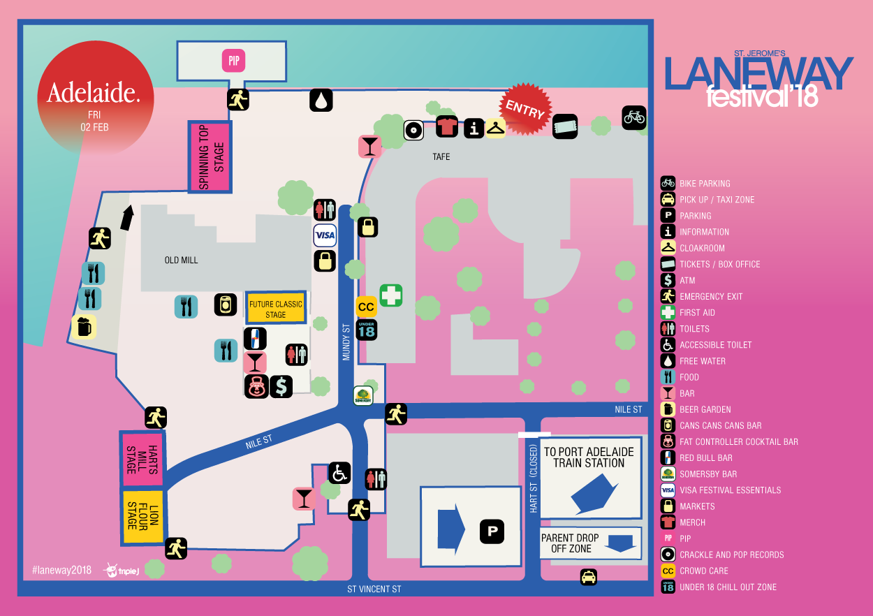 ADL Laneway Festival Map 2018