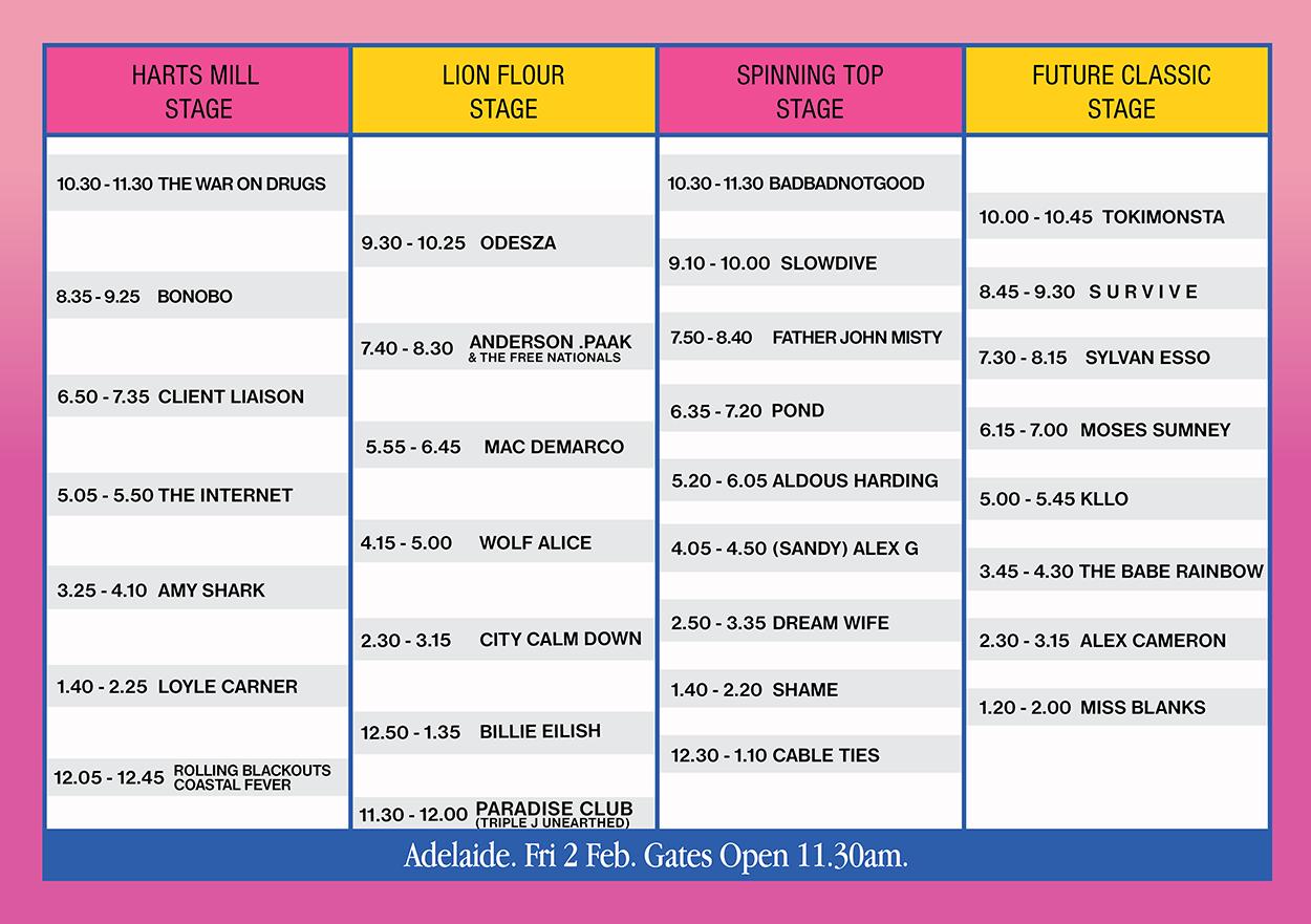 ADL Laneway Festival Set