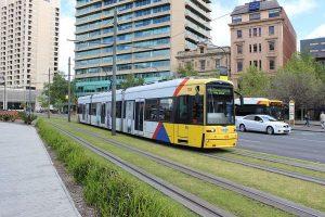 Adelaide_tram_at_Victoria_Square_(21122460463)