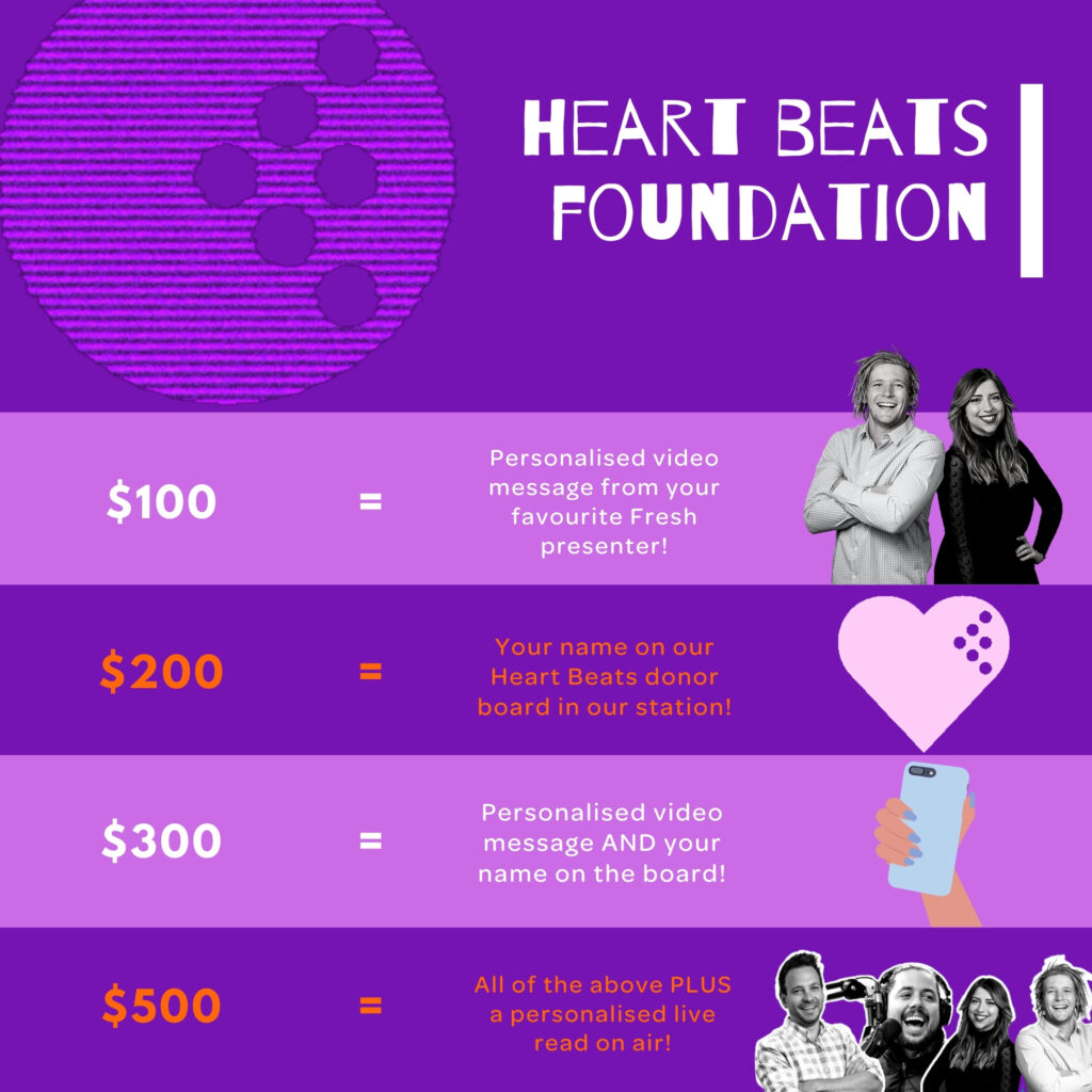 Heart Beats Fundraiser Rewards